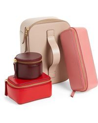 Nordstrom - 4-piece Saffiano Leather Train Case - - Lyst