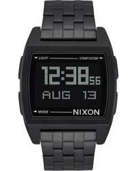 Nixon Base Digital Bracelet Watch - Black