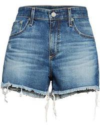 AG Jeans - Bryn High Rise Cutoff Denim Shorts - Lyst