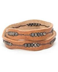Will Leather Goods - 'black' Wrap Bracelet - Lyst