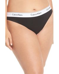 Calvin Klein - Modern Cotton-blend Thong - Lyst