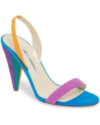 Brian Atwood - Susii Cone Heel Sandal - Lyst