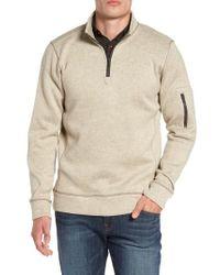 Jeremiah - Lance Herringbone Zip Mock Neck Sweater - Lyst