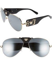 5cd123614bd9 Versace Glam Medusa 57mm Cat Eye Sunglasses in Pink - Lyst