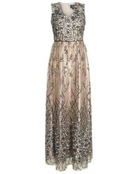 Alex Evenings - Sleeveless Embroidered Gown - Lyst