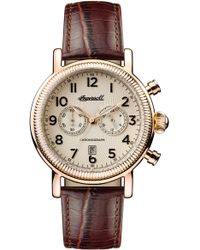 INGERSOLL WATCHES - Ingersoll Daniells Chronograph Leather Strap Watch - Lyst
