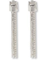 Vince Camuto Tassel Linear Clip Earrings