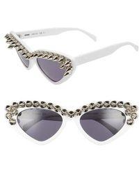 Moschino - 59mm Studded Cat Eye Polarized Sunglasses - - Lyst