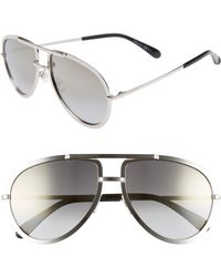 3e0b17d81a5e Lyst - Givenchy Shiny Metal Aviator Sunglasses in Pink