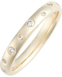 EF Collection - Diamond Speckled Stacking Ring - Lyst