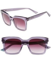 Web - 49mm Sunglasses - Shiny Violet/ Gradient - Lyst