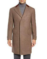 Boglioli - Trim Fit Wool Chesterfield Coat - Lyst