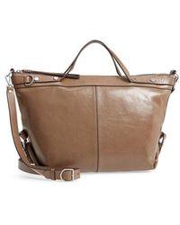 Treasure & Bond - Perry Glazed Leather Convertible Satchel - - Lyst