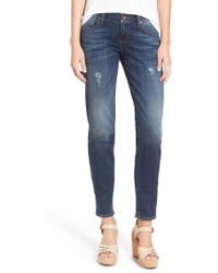 Kut From The Kloth - 'catherine' Distressed Boyfriend Jeans - Lyst