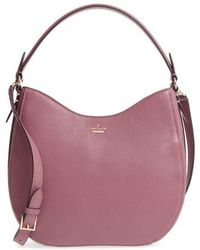 Kate Spade - Oakwood Street - Lora Pebbled Leather Hobo - Purple - Lyst