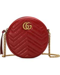 Gucci - Mini Marmont 2.0 Leather Canteen Shoulder Bag - - Lyst