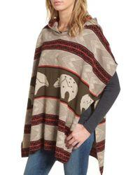 Pendleton - Knit Hooded Poncho - Lyst