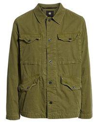G-Star RAW - Vodan Worker Cotton Jacket - Lyst