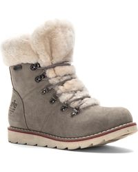 Royal Canadian - Lenoir Genuine Shearling Trim Bootie - Lyst