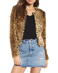 Tinsel - Faux Fur Leopard Jacket - Lyst