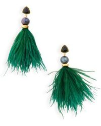 Lizzie Fortunato | Parker Feather-drop Earrings | Lyst