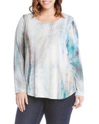 Karen Kane - Print Shirttail Top - Lyst