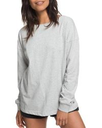 Roxy - Journey On Open Back Sweatshirt - Lyst