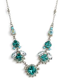 Sorrelli - Sunflower Crystal Necklace - Lyst