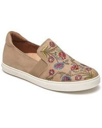 Cobb Hill - Cobb Hill Flower Embroidered Slip-on Sneaker - Lyst