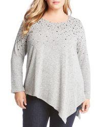 Karen Kane - Asymmetrical Star Print Sweater - Lyst