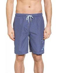 Peter Millar | Marlins Way Stripe Swim Shorts | Lyst