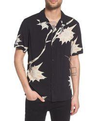 AllSaints - Mokapu Regular Fit Short Sleeve Sport Shirt - Lyst