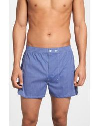 Nordstrom - 3-pack Classic Fit Boxers, Blue - Lyst