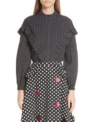 Paskal - Dot Ruffle Shirt - Lyst