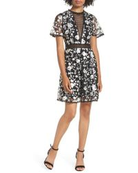 Heartloom - Mellie Embroidered Mesh Dress - Lyst