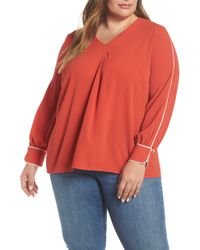 Vince Camuto - Long Sleeve Blouse - Lyst