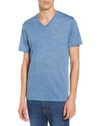 The Rail - Streaky V-neck T-shirt - Lyst