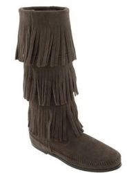 Minnetonka | 3-layer Fringe Boot | Lyst