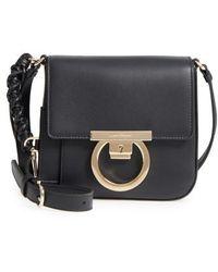 Ferragamo - Gancio Lock Leather Crossbody Bag - Lyst