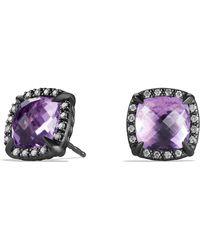 David Yurman - 'chatelaine' Earrings With Semiprecious Stone And Diamonds - Lyst