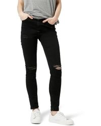 TOPSHOP - Moto Jamie Ripped Jeans - Lyst