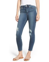 Articles of Society - Heather High Rise Ripped Crop Skinny Jeans - Lyst