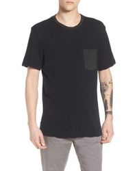James Perse - Two-tone Pocket T-shirt - Lyst