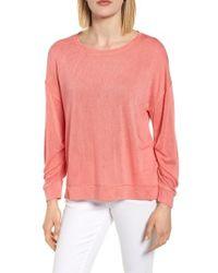 Caslon - Caslon Tuck Sleeve Sweatshirt - Lyst