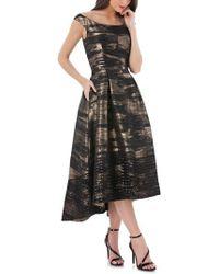 Carmen Marc Valvo - Brocade Off The Shoulder Dress - Lyst