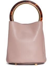 Marni - Ring Handle Leather Bucket Bag - Lyst