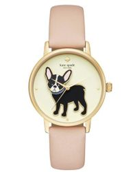 Kate Spade - Grand Metro Antoine Leather Strap Watch - Lyst