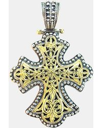 Konstantino - 'classics' Two-tone Cross Pendant - Lyst