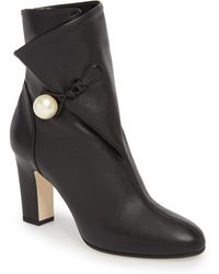 Jimmy Choo - Bethanie Button Flap Bootie - Lyst