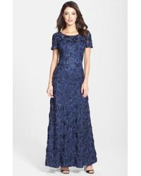 Alex Evenings - Sequin & Soutache Lace Gown - Lyst